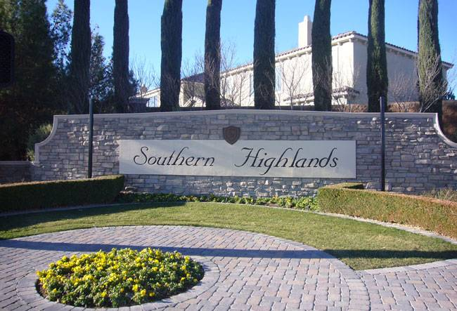 Las vegas Strip Area Real Estate Southern Highlands